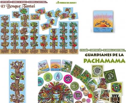 Guardianes de la Pachamama y El Bosque Tantai,  juegos de mesa cooperativos en defensa del Medio Ambiente
