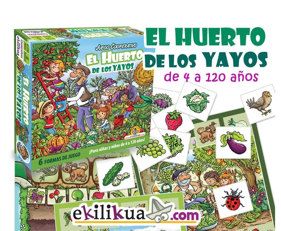 Juego De Mesa Cooperativo Para Abuelos Y Nietos El Huerto De Los Yayos